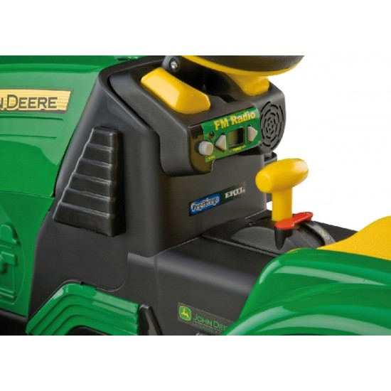 John Deere Ground Force 12V akkutraktori + kärry